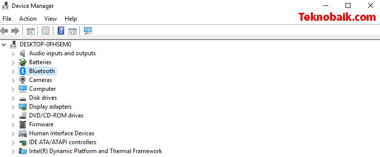 mengaktifkan bluetooth di laptop windows