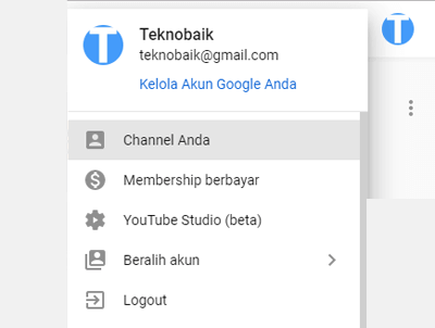 menghapus video di youtube