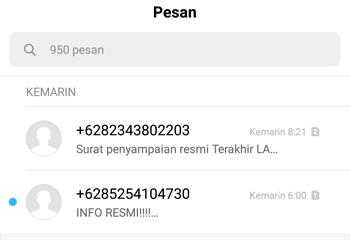 hp tidak bisa menerima sms verifikasi