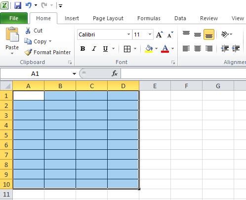 cara membuat tabel excel