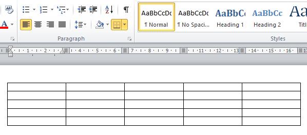cara buat tabel di microsoft word