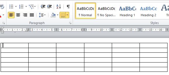 cara buat tabel mudah