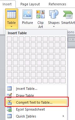 membuat tabel di word